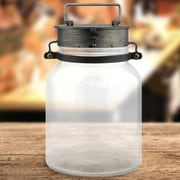 CKK Home D cor, LP Industrial Pewter and Glass Lantern