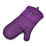 L.A Sweet Home Silicone 2 Piece Oven Mitts; Purple