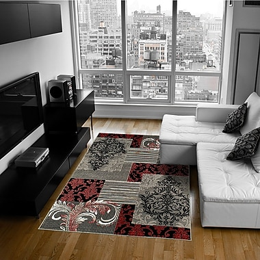 AllStar Rugs Red Area Rug; 5' x 6'11''
