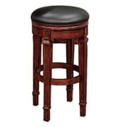 Beringer 30'' Swivel Bar Stool; Mahogany