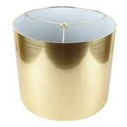Urbanest Classic 12'' Drum Lamp Shade; Gold