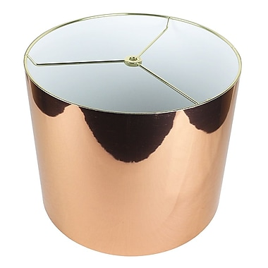 Urbanest Classic 12'' Drum Lamp Shade; Copper