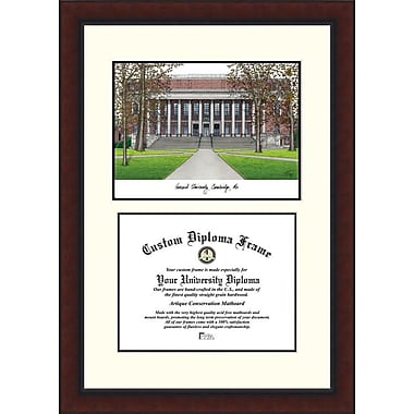 Campus Images NCAA Legacy Scholar Diploma Picture Frame; Harvard Crimson