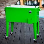 Permasteel 80 Qt. Patio Rolling Cooler; Lime