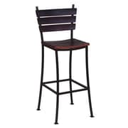 2 Day Stave 24'' Bar Stool; Brown