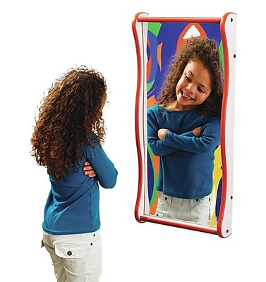 Playscapes Giggle Wall Mirror; Purple / Green