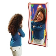 Playscapes Giggle Wall Mirror; Purple / Maple