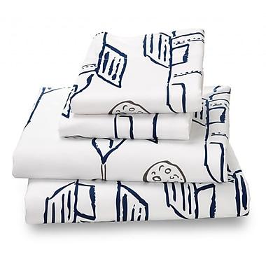 Where the Polka Dots Roam Luxury 4 Piece Sheet Set; Twin