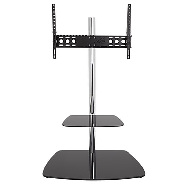 AVF (FSLT800ISBB-A) TV Stand with Mount 32-70 TVs Black/Silver