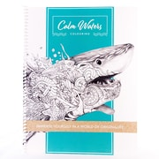 "Calm Waters Colouring, Immerse Yourself In A World of Originality, Adult Colouring Book, 8.5"" x 11"", 60 pages, Coilbound"