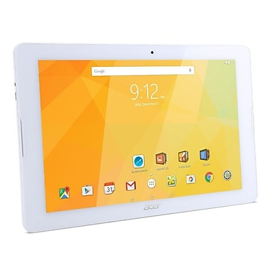 Acer - Tablette Iconia One 10 B3-A30-K6YL, 10,1 po, 1,3 GHz MediaTek MT8163, 16Go Flash, 1 Go DDR3L, Android 6.0, blanc