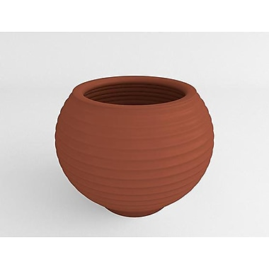 TerraCastProducts Grooved Resin Pot Planter; Mexican Chili