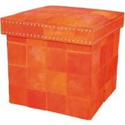 Nourison Barclay Butera Ottoman; Tangerine