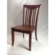 Iconic Furniture Modern Solid Wood Dining Chair (Set of 2); Cinnamon / Cinnamon