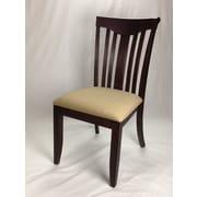 Iconic Furniture Modern Side Chair (Set of 2); Mocha