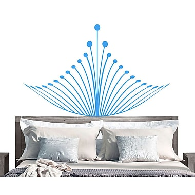 EyvalDecal Crown Headboard Vinyl Wall Decal; Teal