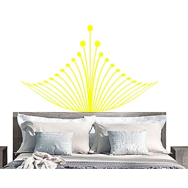 EyvalDecal Crown Headboard Vinyl Wall Decal; Yellow