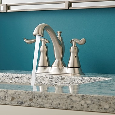 Foundations Centerset Double Handle Bathroom Faucet w/ Drain Assembly and DIAMOND? Seal Technology