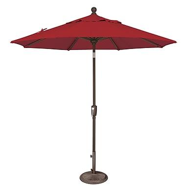 SimplyShade Catalina 7.5' Market Umbrella; Solefin / Really Red