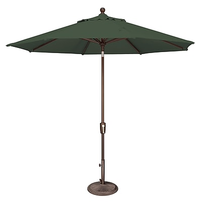 SimplyShade 9' Catalina Market Umbrella; Sunbrella / Forest Green WYF078277988331