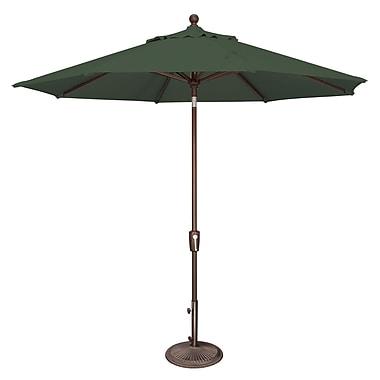SimplyShade Catalina 9' Market Umbrella; Sunbrella / Forest Green