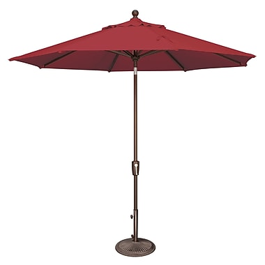 SimplyShade Catalina 9' Market Umbrella; Solefin / Really Red