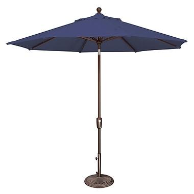SimplyShade Catalina 9' Market Umbrella; Solefin / Sky Blue