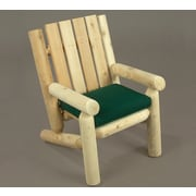 Rustic Cedar Junior Cedar Log Arm Chair; Clear Coat