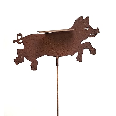 ZGardenParty Flying Pig Garden Stake