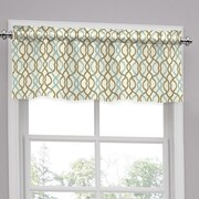 Traditions by Waverly Make Waves Tailored 52'' Curtain Valance; Latte