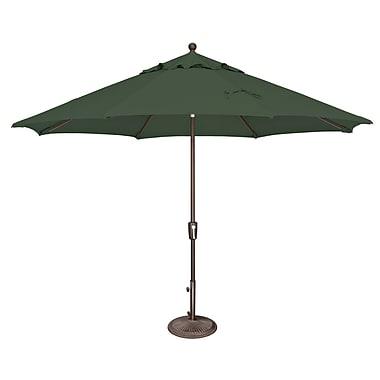 SimplyShade Catalina 11' Market Umbrella; Sunbrella / Forest Green