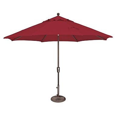 SimplyShade Catalina 11' Market Umbrella; Solefin / Really Red