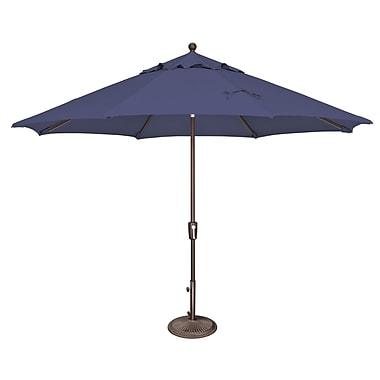 SimplyShade Catalina 11' Market Umbrella; Solefin / Sky Blue