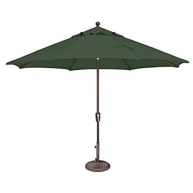 SimplyShade Catalina 11' Market Umbrella; Solefin / Forest Green