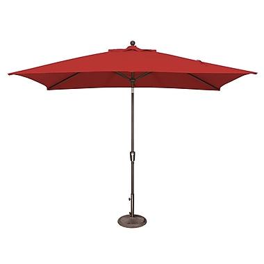 SimplyShade Catalina 10' X 6.5' Rectangular Market Umbrella; Sunbrella / Jockey Red