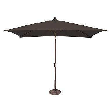 SimplyShade Catalina 10' X 6.5' Rectangular Market Umbrella; Sunbrella / Black