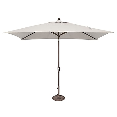 SimplyShade Catalina 10' X 6.5' Rectangular Market Umbrella; Sunbrella / Natural