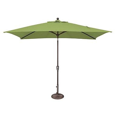 SimplyShade Catalina 10' X 6.5' Rectangular Market Umbrella; Sunbrella / Ginkgo