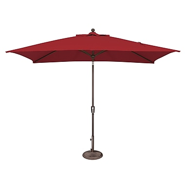 SimplyShade Catalina 10' X 6.5' Rectangular Market Umbrella; Solefin / Really Red