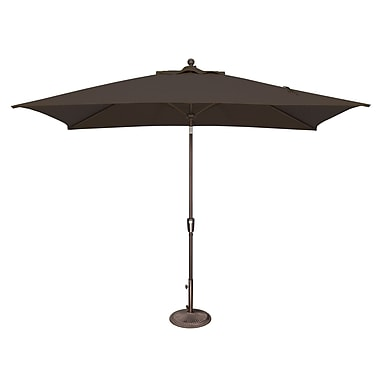 SimplyShade Catalina 10' X 6.5' Rectangular Market Umbrella; Solefin / Black