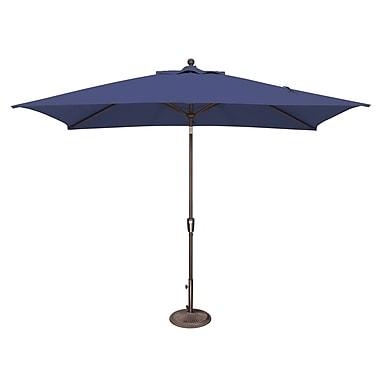 SimplyShade Catalina 10' X 6.5' Rectangular Market Umbrella; Solefin / Sky Blue