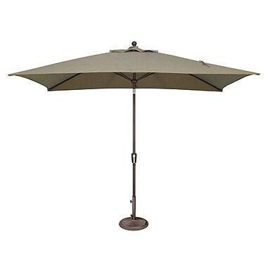 SimplyShade Catalina 10' X 6.5' Rectangular Market Umbrella; Solefin / Taupe