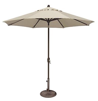 SimplyShade Lanai 9' Market Umbrella; Sunbrella / Antique Beige WYF078277988423