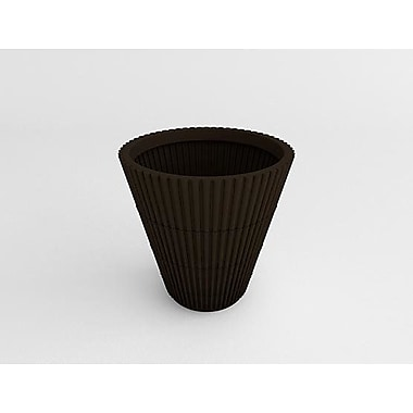 TerraCastProducts Bamboo Resin Pot Planter; Cocoa Brown