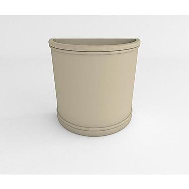 TerraCastProducts Half Resin Pot Planter; Concrete