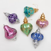 Frantic Fern 6 Piece Jewel Tones Ornament Trim Set