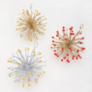 Frantic Fern Spiked 3D Wire Ornament (Set of 3)