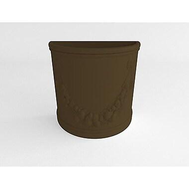 TerraCastProducts Half Resin Pot Planter; Mocha