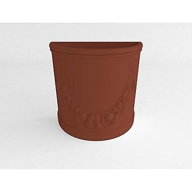 TerraCastProducts Half Resin Pot Planter; Rust Brown
