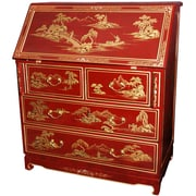 Oriental Furniture Chinese Imperial Secretary Desk